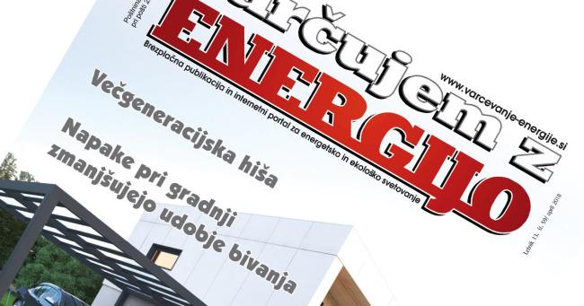 Revija Varčujem z energijo, št. 59, april 2018