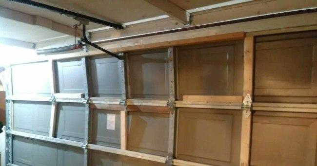 Replacing panels on garage door