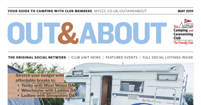 Camping Caravan Club Out & About May 2019