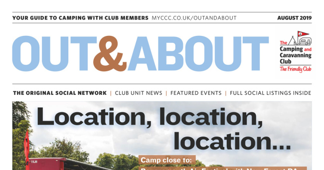 Camping Caravan Club Out & About August 2019