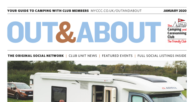 Camping Caravan Club Out & About January 2020