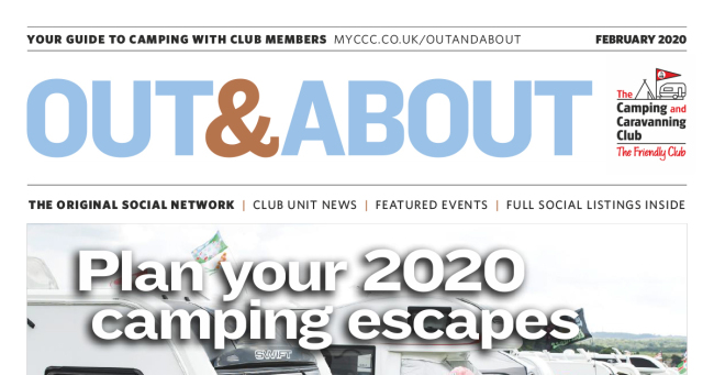 Camping Caravan Club Out & About February 2020